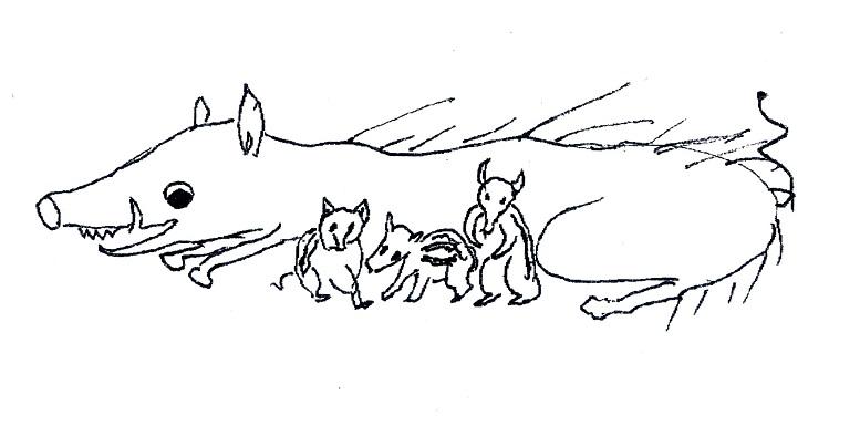 《くずかごの唄》2 異常気象の夏 野生のイノシシも異常に
