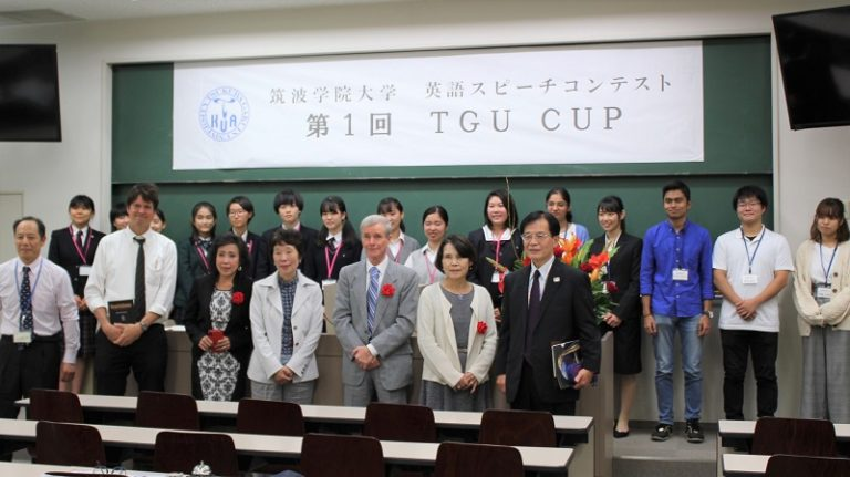気候変動などテーマに英語力競う 筑波学院大でスピーチコンテスト
