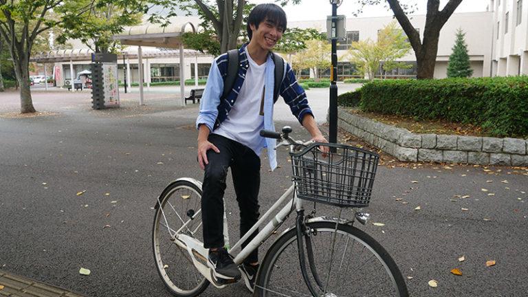 《学生インタビュー》22 サイクリングから史跡に興味