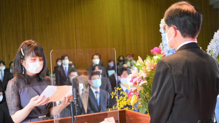 新たなステージへ 贈る言葉は「おいあくま」 筑波学院大学で卒業式